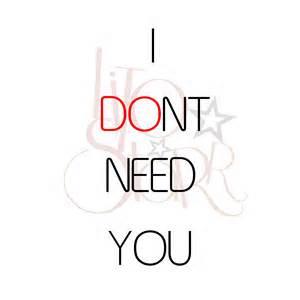 Don'tNeed